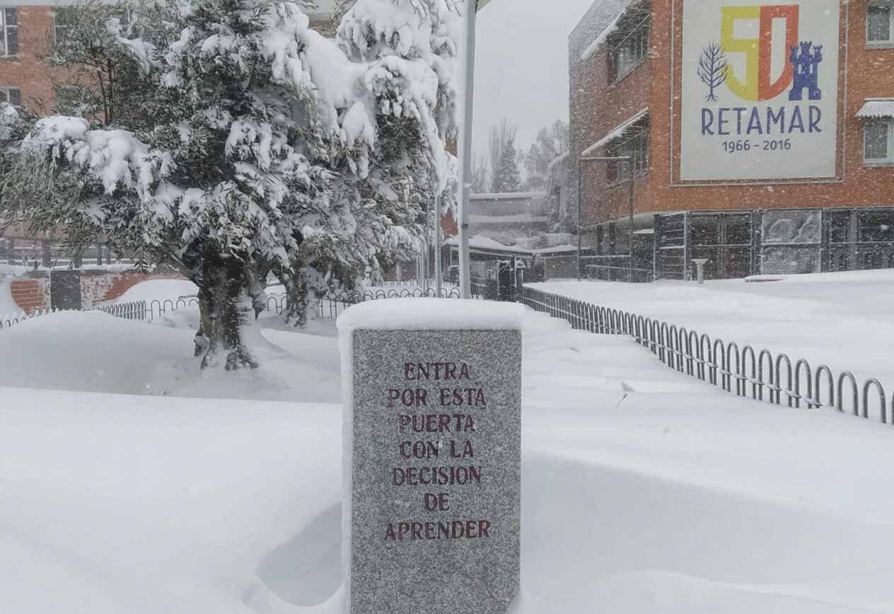 nieve en Retamar